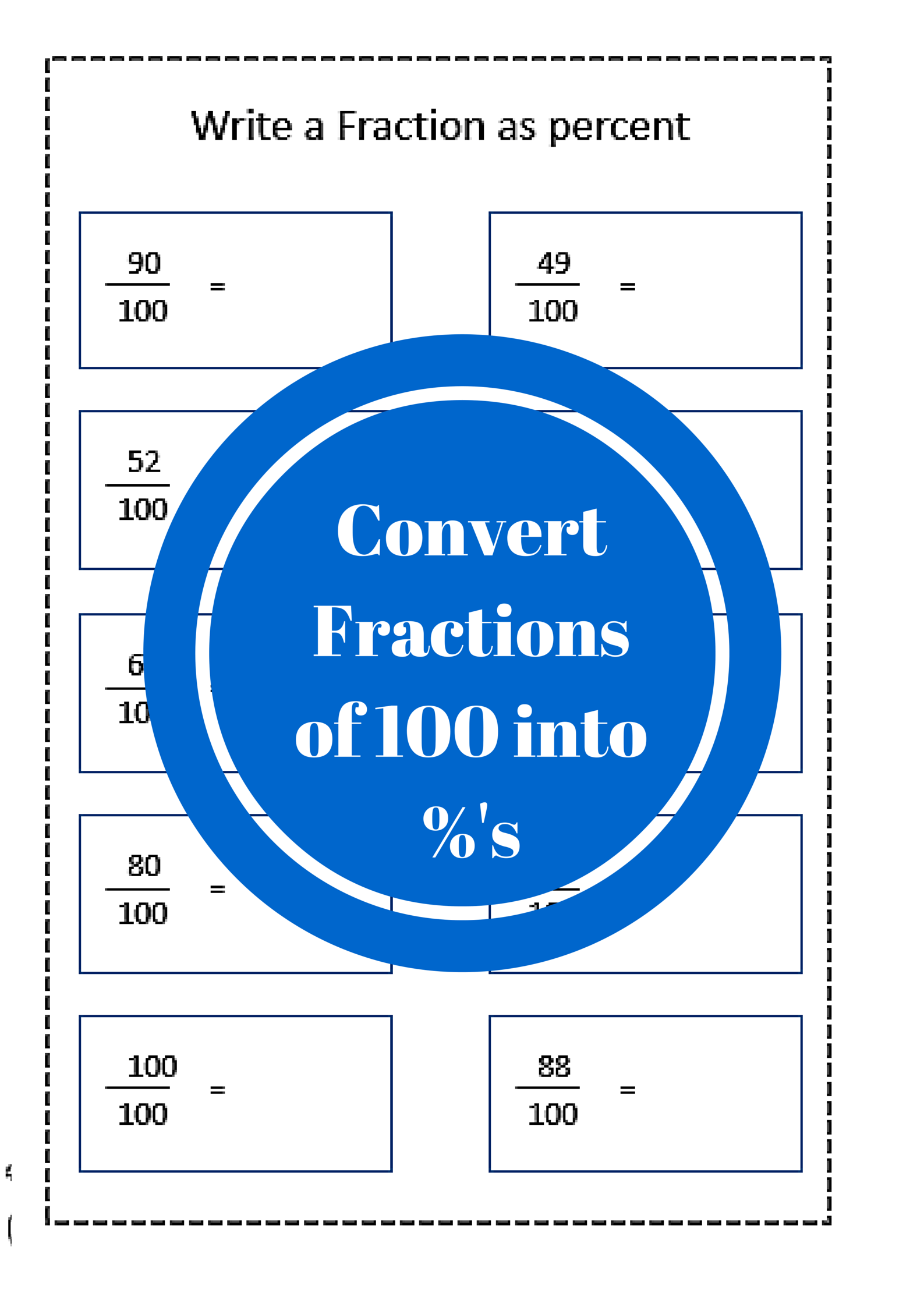 Fraction To Percent Worksheet
