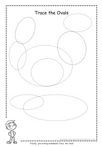 Oval tracing worksheet 1