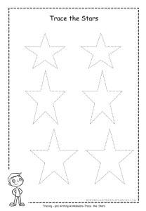 Star tracing worksheet 1