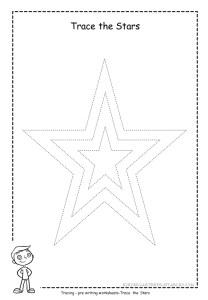 Star tracing worksheet 2