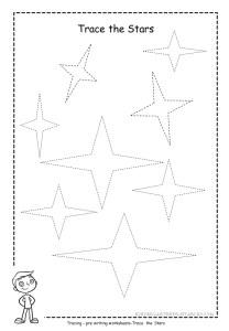 star tracing worksheet free printable
