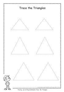 triangle tracing worksheet 1