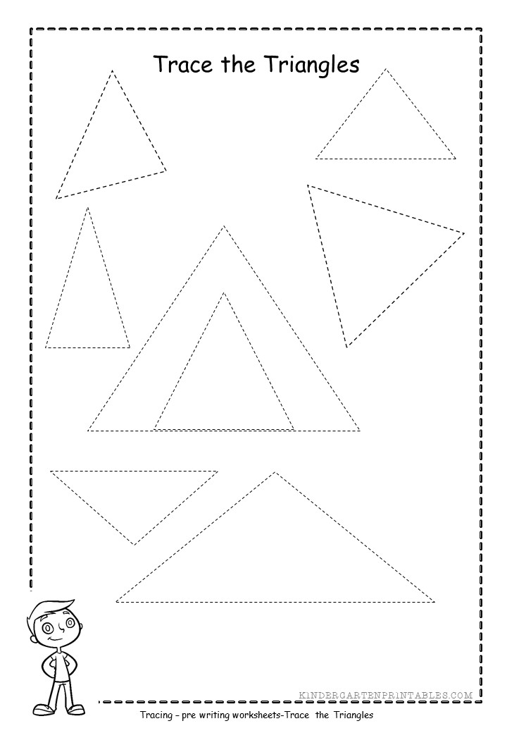 graphic relating to Printable Triangle known as triangle tracing worksheets totally free printables