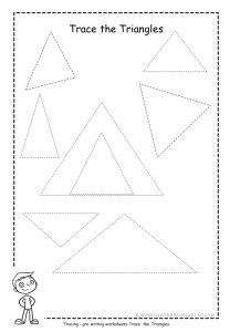 triangle tracing worksheet