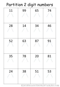 Partition 2 Digit Numbers 3