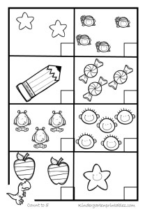 counting worksheets 1-5