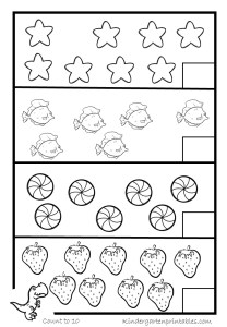 counting worksheets-6-10