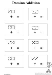 Free Printable Domino Adding Sheets