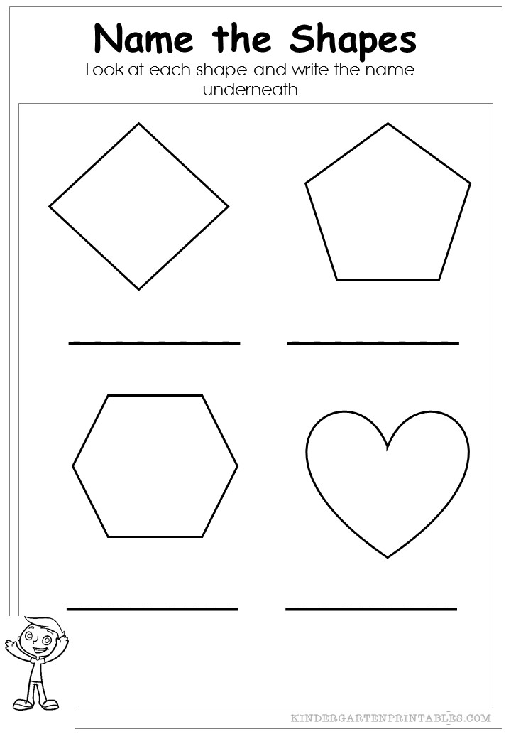 Name the Shapes Worksheets