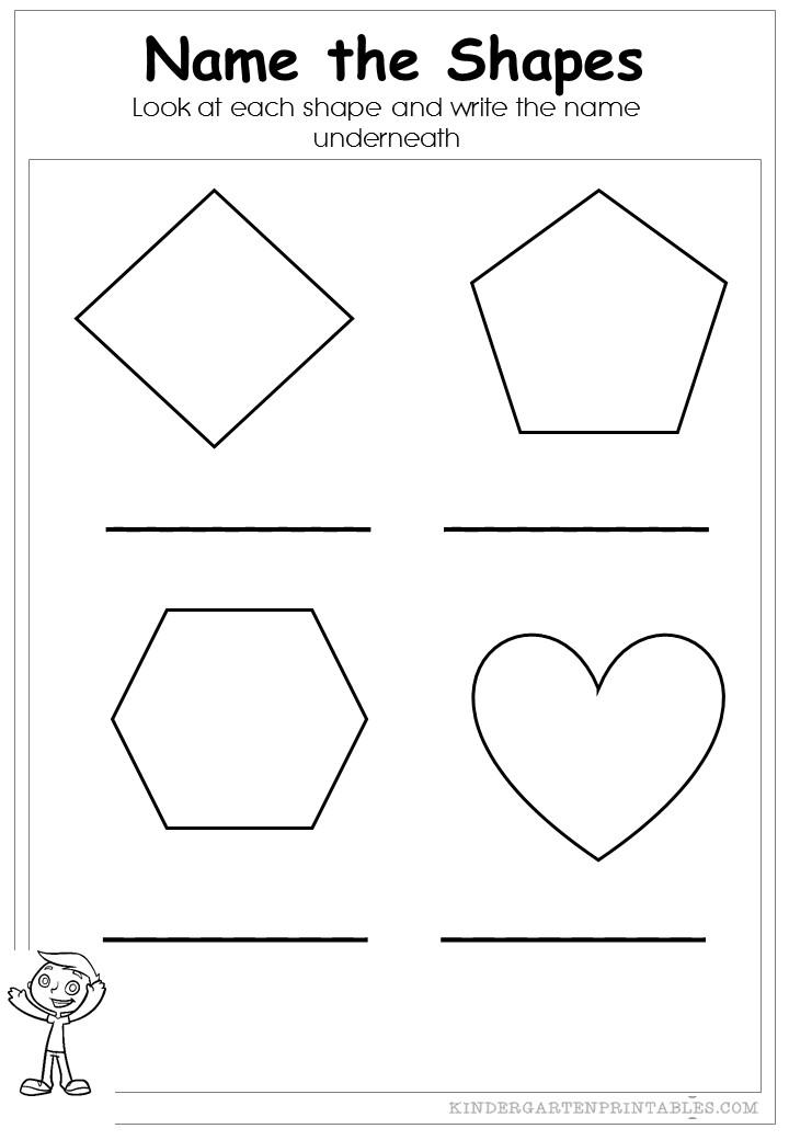 name the shapes worksheets. Black Bedroom Furniture Sets. Home Design Ideas