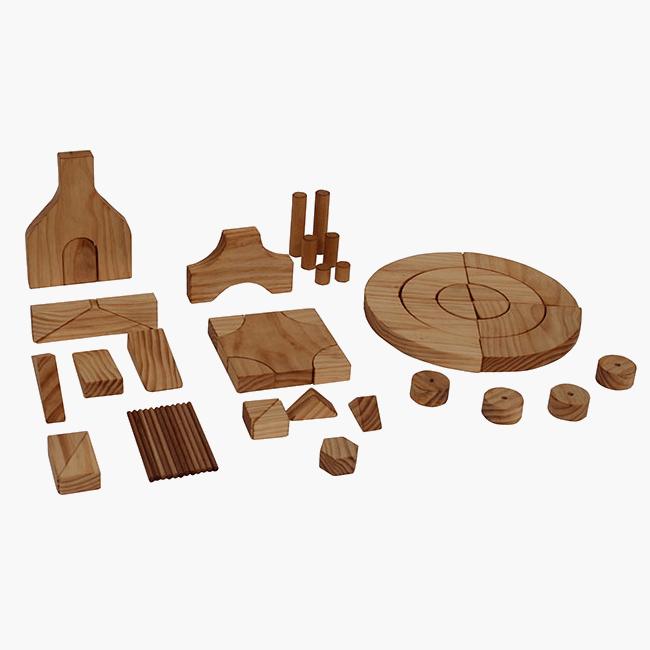 Wooden Project Block Set