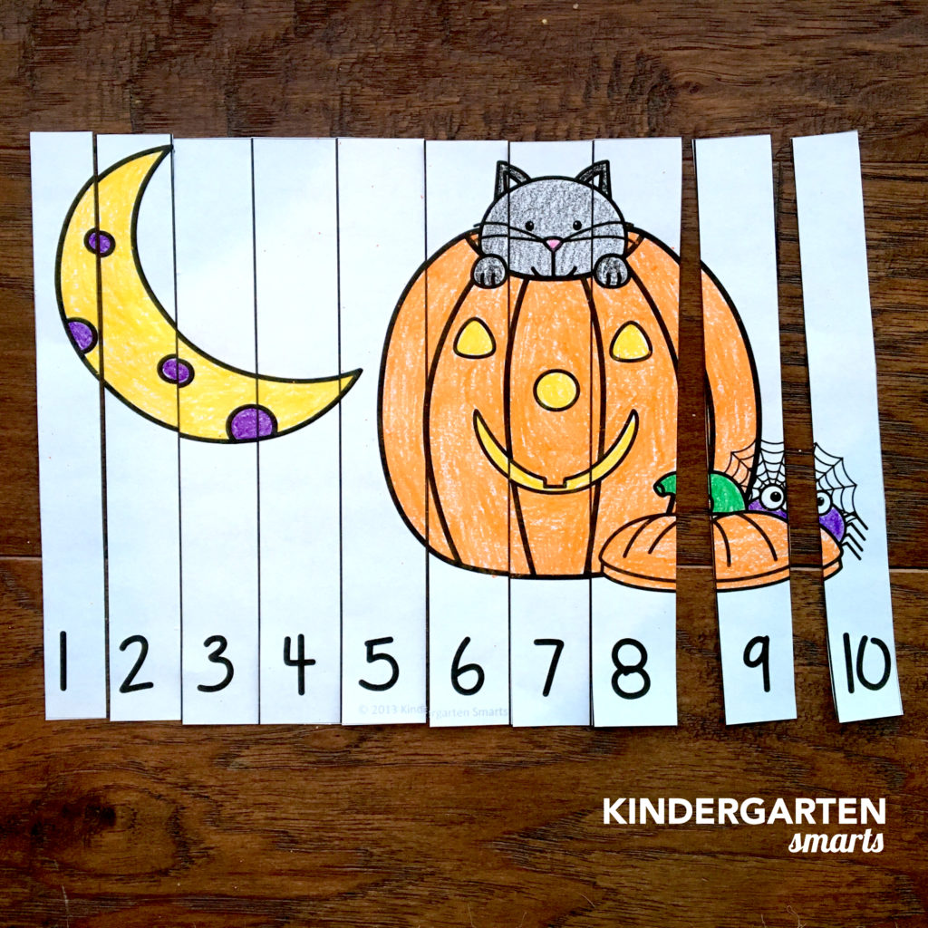 Halloween Counting Number Puzzles With 2 Freebies