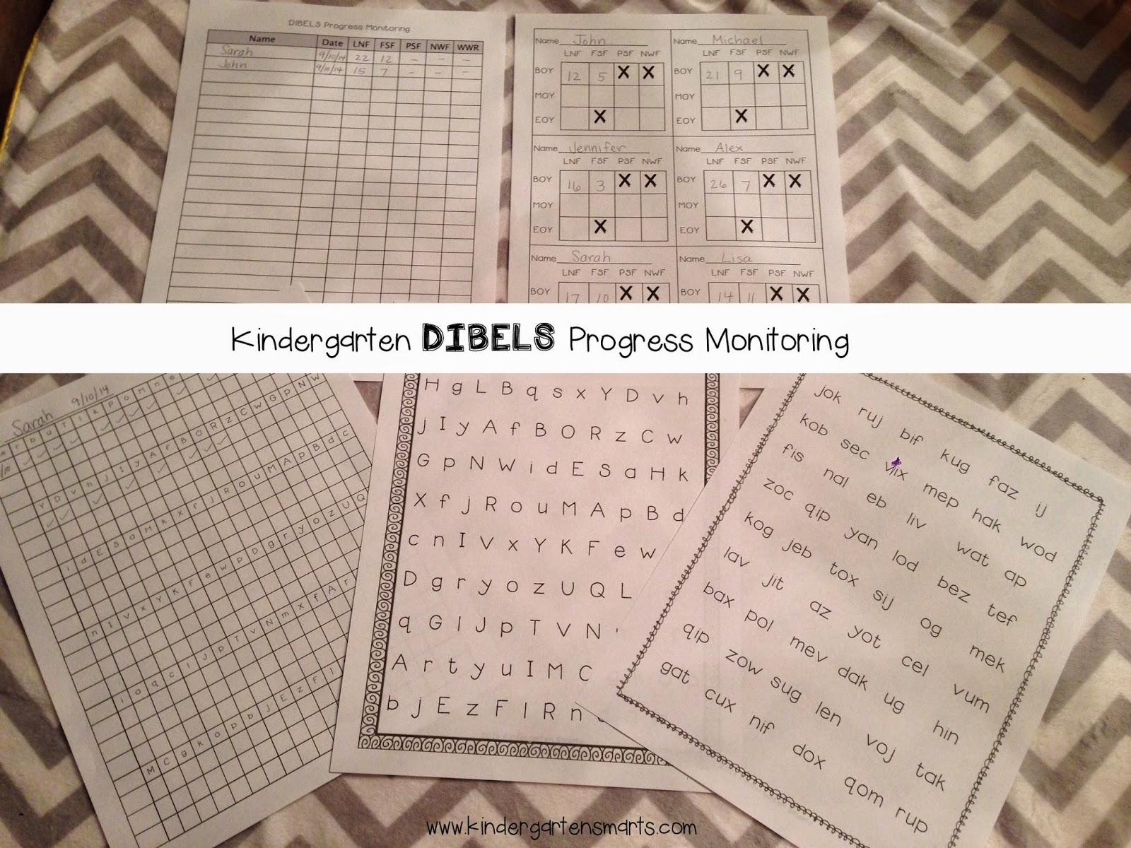 Kindergarten Dibels Practice Sheets
