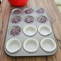 Muffinteig in Muffinformen