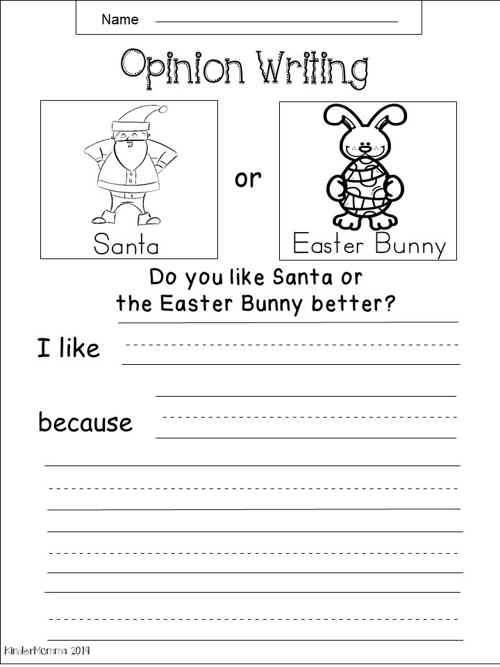 Spring Opinion Writing Worksheets Kindermomma Com