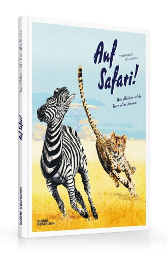 Das Cover zeigt ein flüchtendes Zebra, das von einem Geparden verfolgt wird.