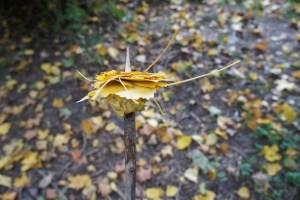 Schnitzeljagd im herbstlichen Wald: Da macht das Spiel Laubschaschlik viel Spaß. foto (c) kinderoutdoor.de