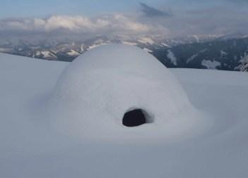 Iglu bauen mit einem Experten, dass ist regelmäßig in der Wildschönau möglich. foto (c) Hans Hotter