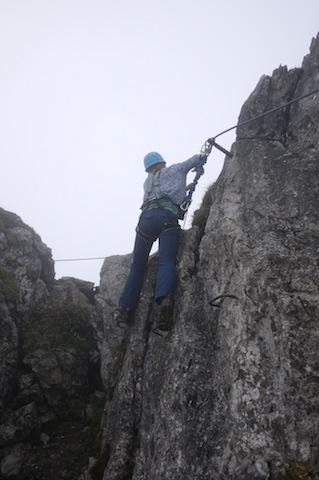 Um Engelberg gibt es sechs Klettersteige und manche sind auch für erfahrene Familien geeignet. foto (c) kinderoutdoor.de