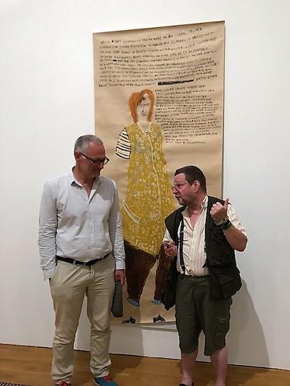 Daniel J. Schreiber (Direktor des Buchheim Museums) und Clemens Wild (Künstler und euward-Preisträger)