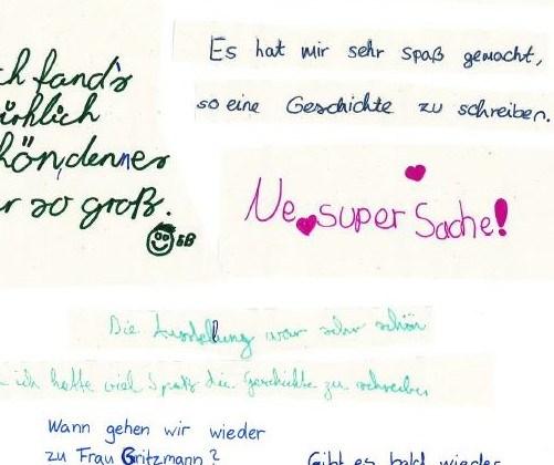 """Feedback zum """"Fantastischen Schreibwettbewerb"""" in der IJB"""