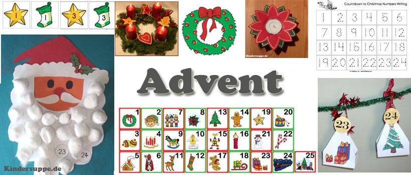 Advent und Adventskalender Kindergarten und Kita-Ideen