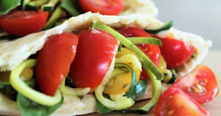 Sandwich Courgette Tomate Houmous