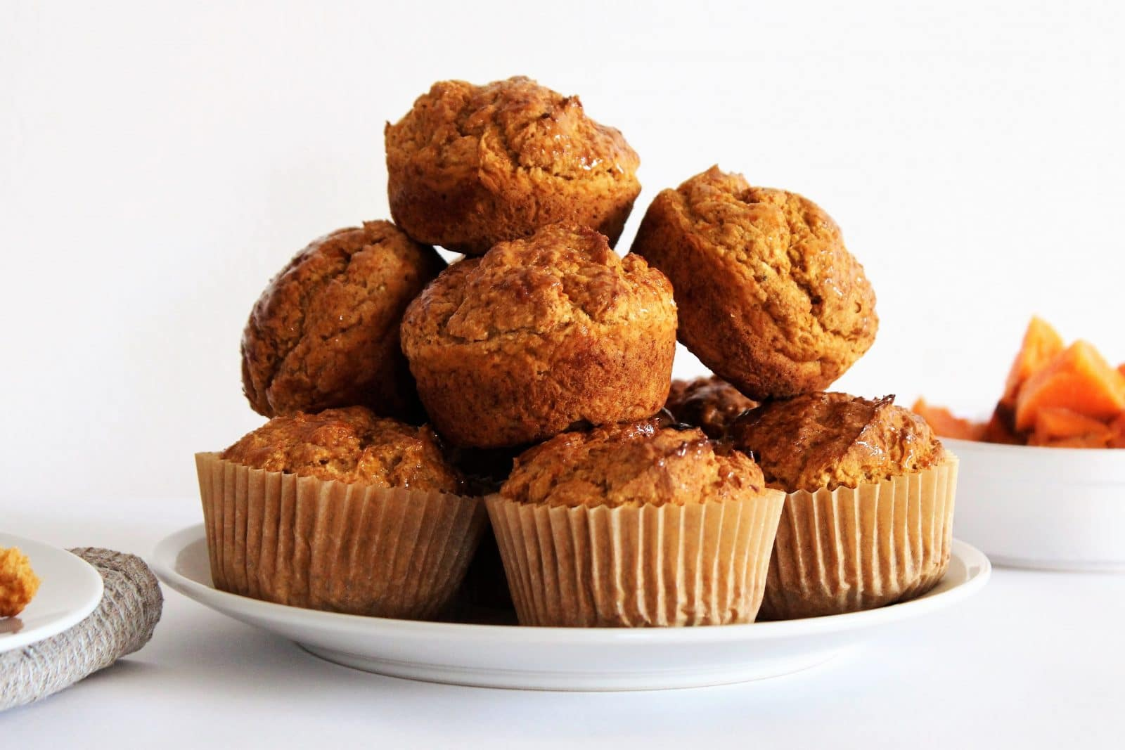 Muffins à la Patate Douce, Orange & Épices
