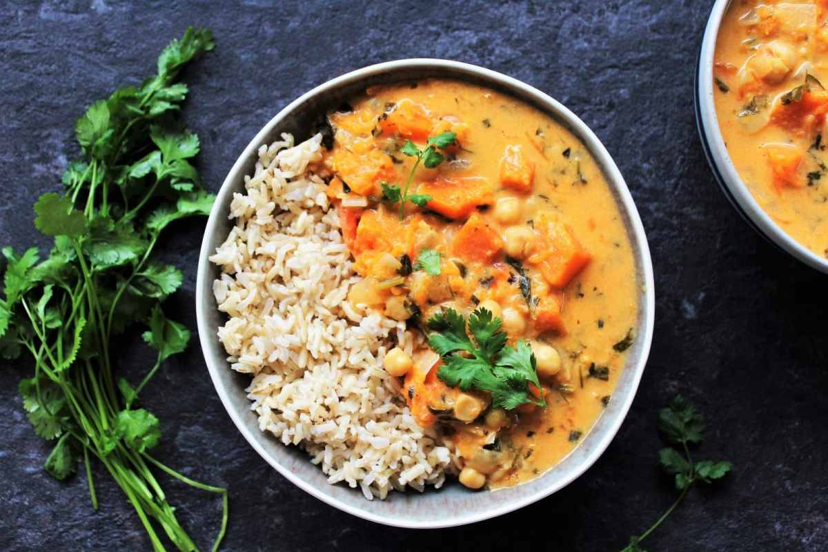 Curry au Potiron et aux Pois Chiches