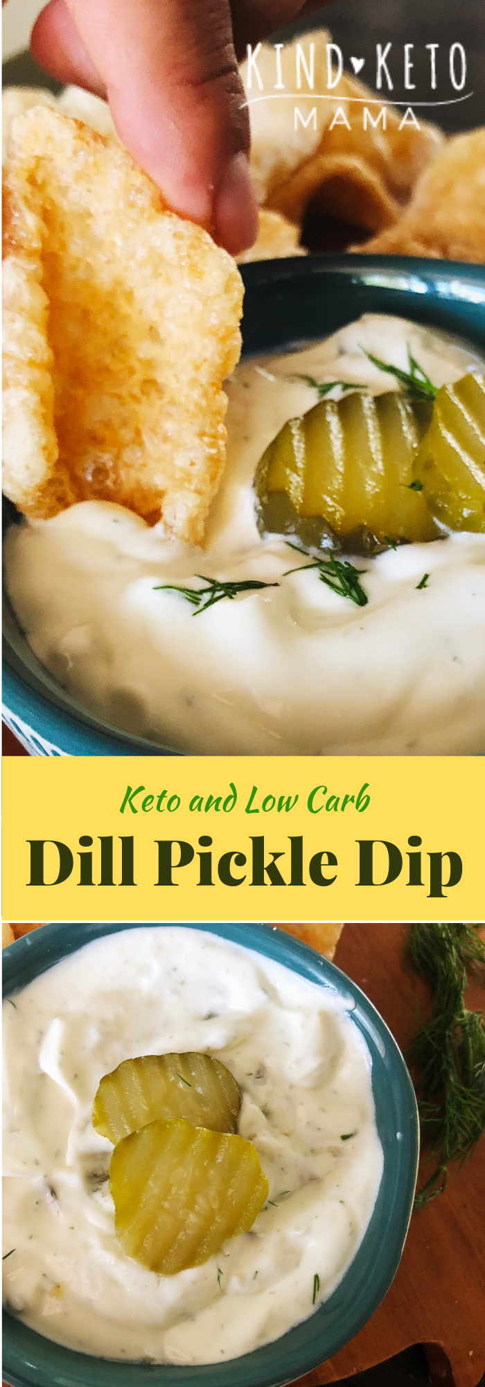 Keto Low Carb Sour Cream Pickle Dip