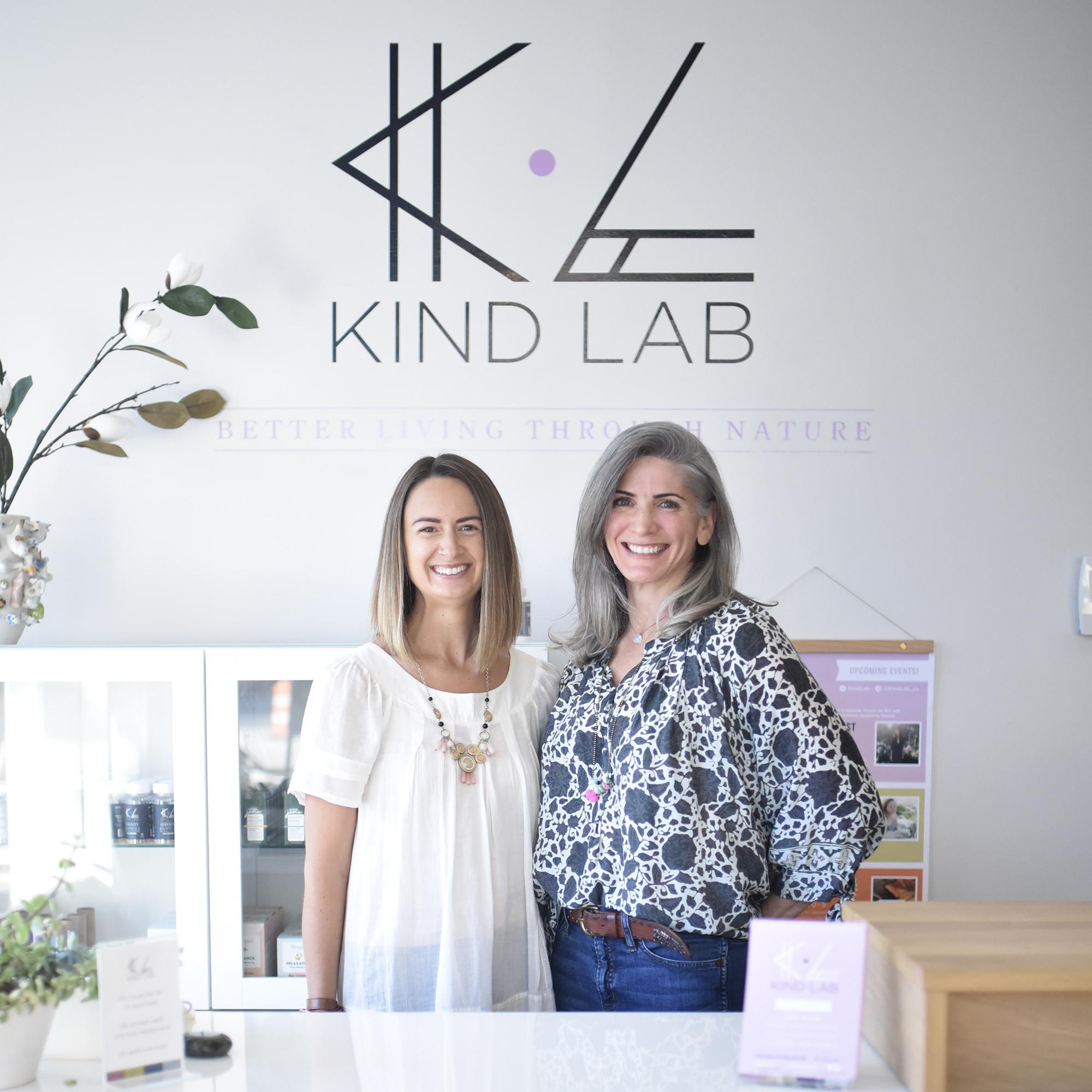 Kind Lab Founder Angela Arena with Allison