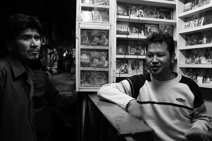 Rudolf Mawlong, Khasi Film star in his music shop