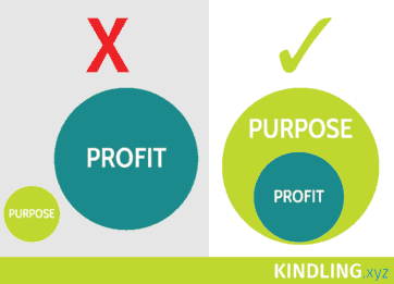 Profit and purpose diagram