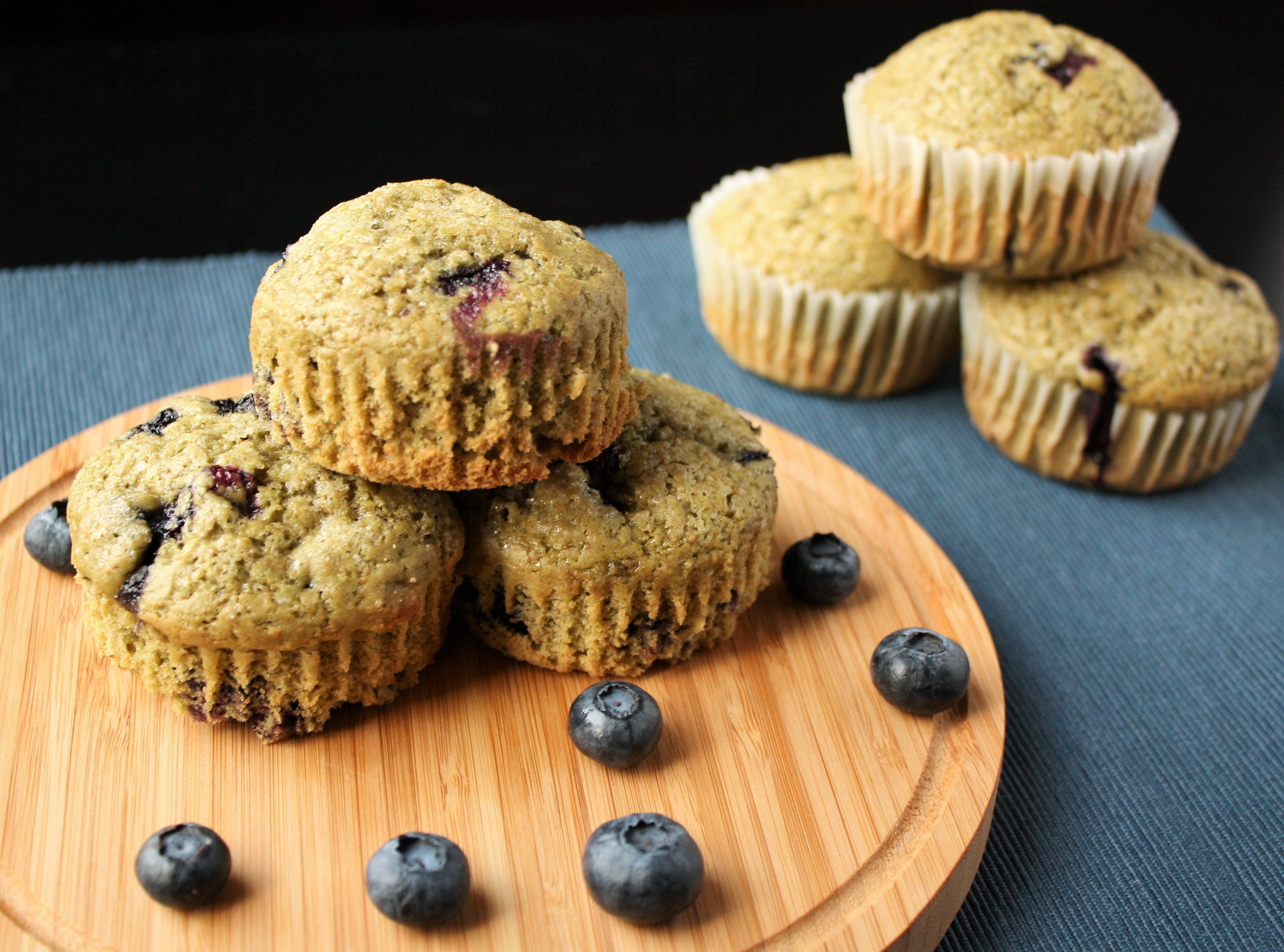Blueberry Matcha Muffins (AKA: Superfood Muffins!)