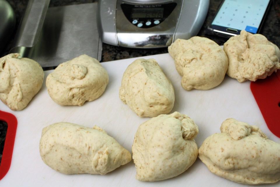 Vegan Hamburger Buns Dough Pieces