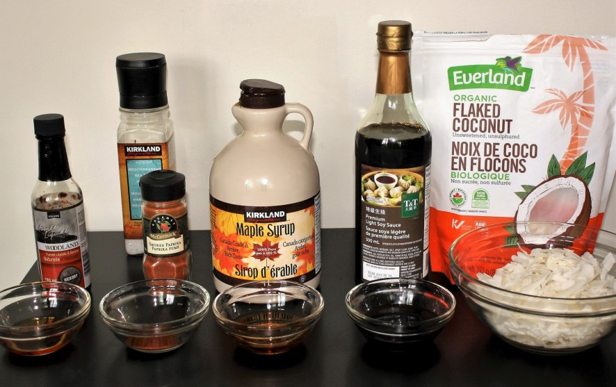 Maple Coconut Bacon Ingredients