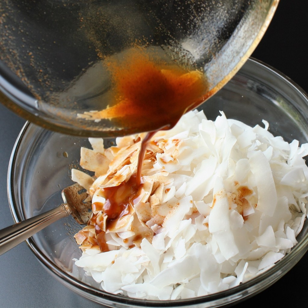 Maple Coconut Bacon Mixing