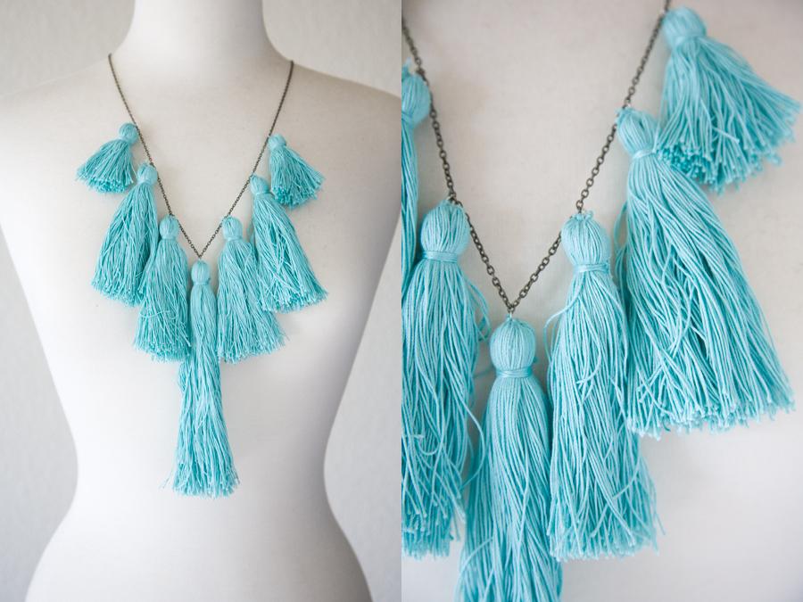 DIY necklace, Tassel Necklace