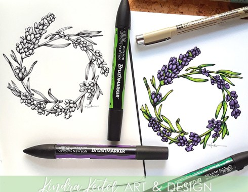 lavender botanical illustration