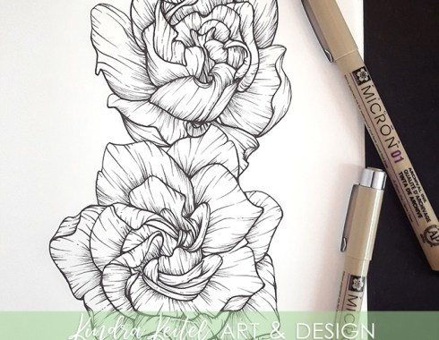 gardenia botanical illustration