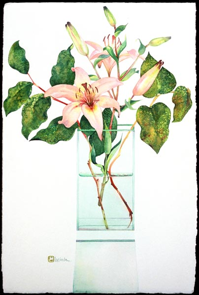 Lillies by Lucinda Hayes