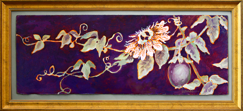 Passion Flower and Fruit #2 by Lucinda Hayes
