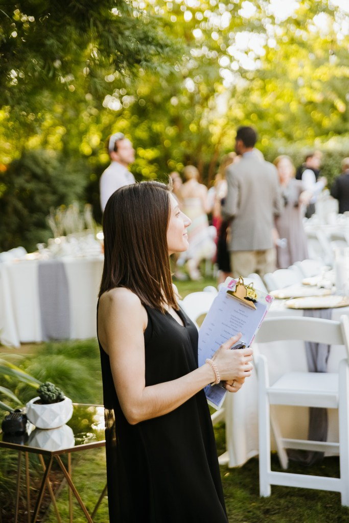 One reason you should hire a wedding coordinator is for managing timeline and logistics.