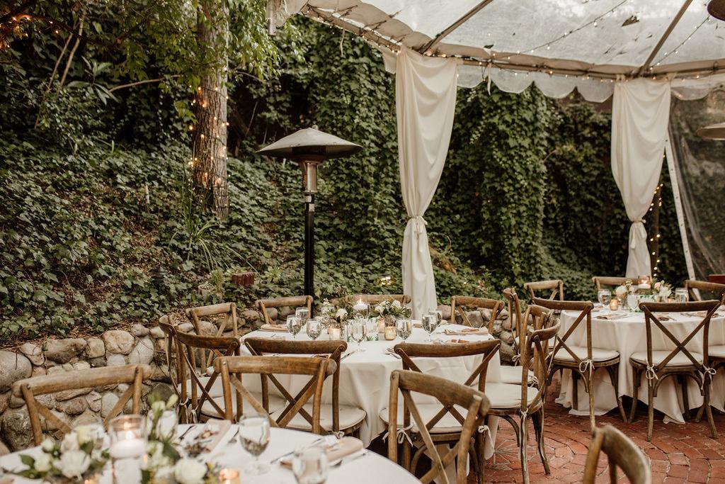 small wedding reception dinner