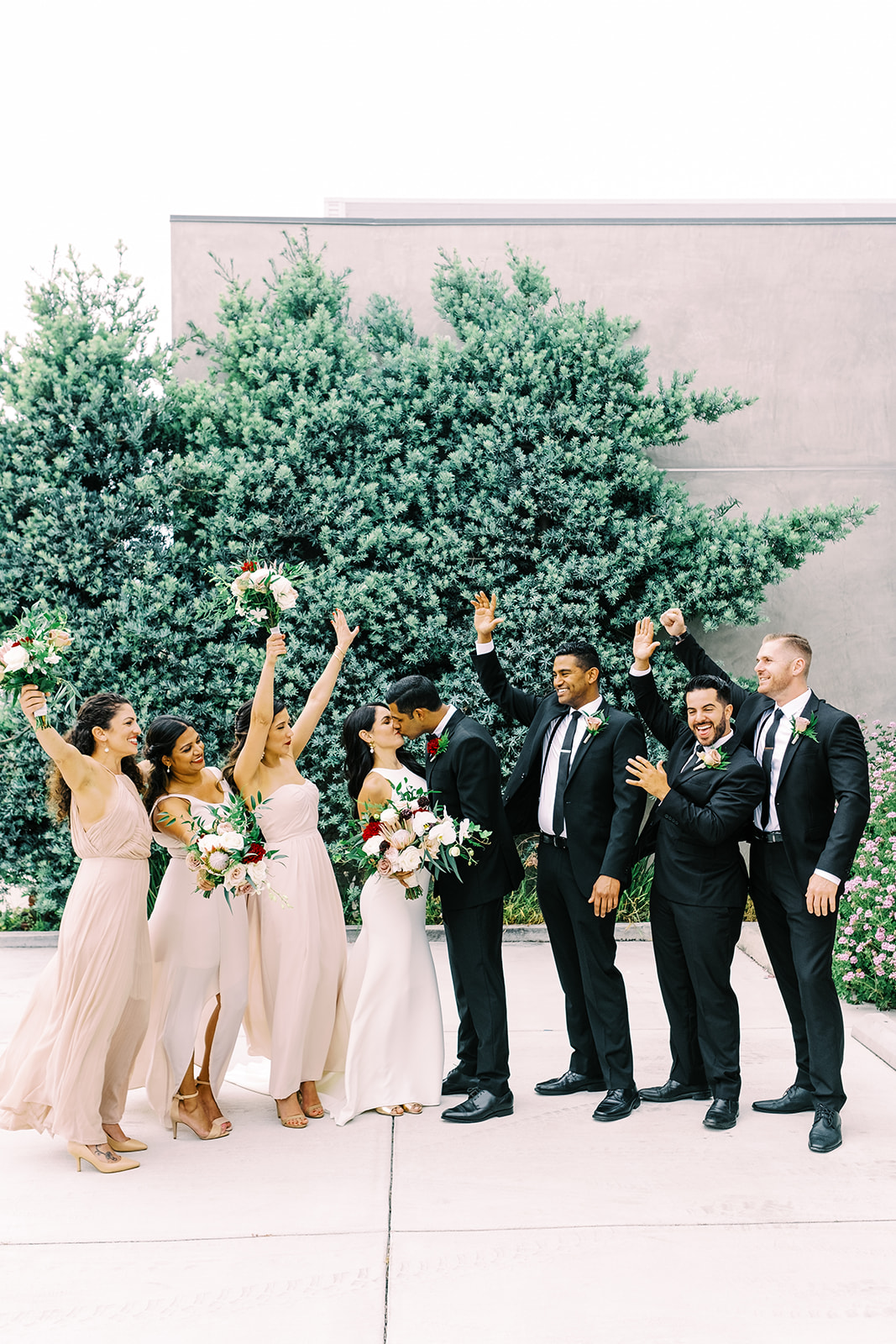 Bridal Party cheering