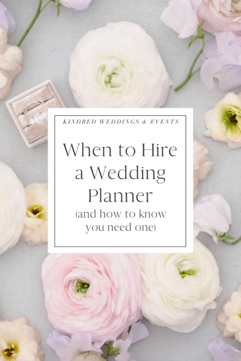 When to Hire a Wedding Planner