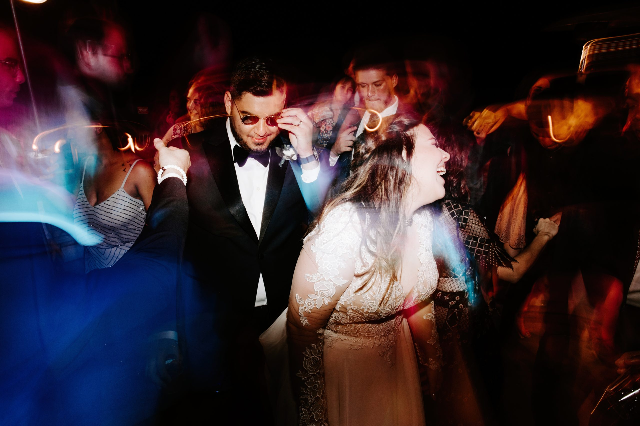 Dance party at wedding