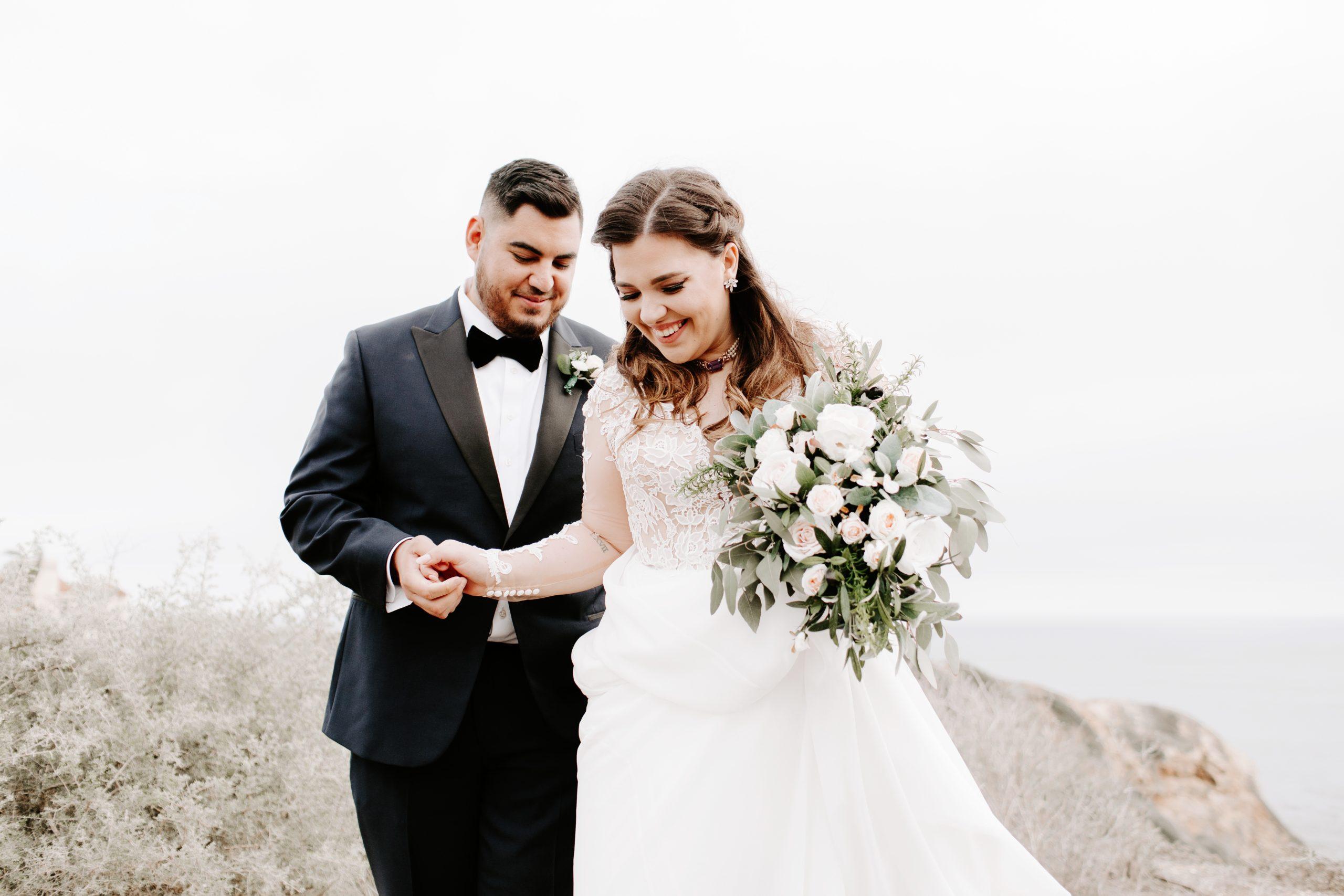 Bride and Groom at Palos Verdes Wedding