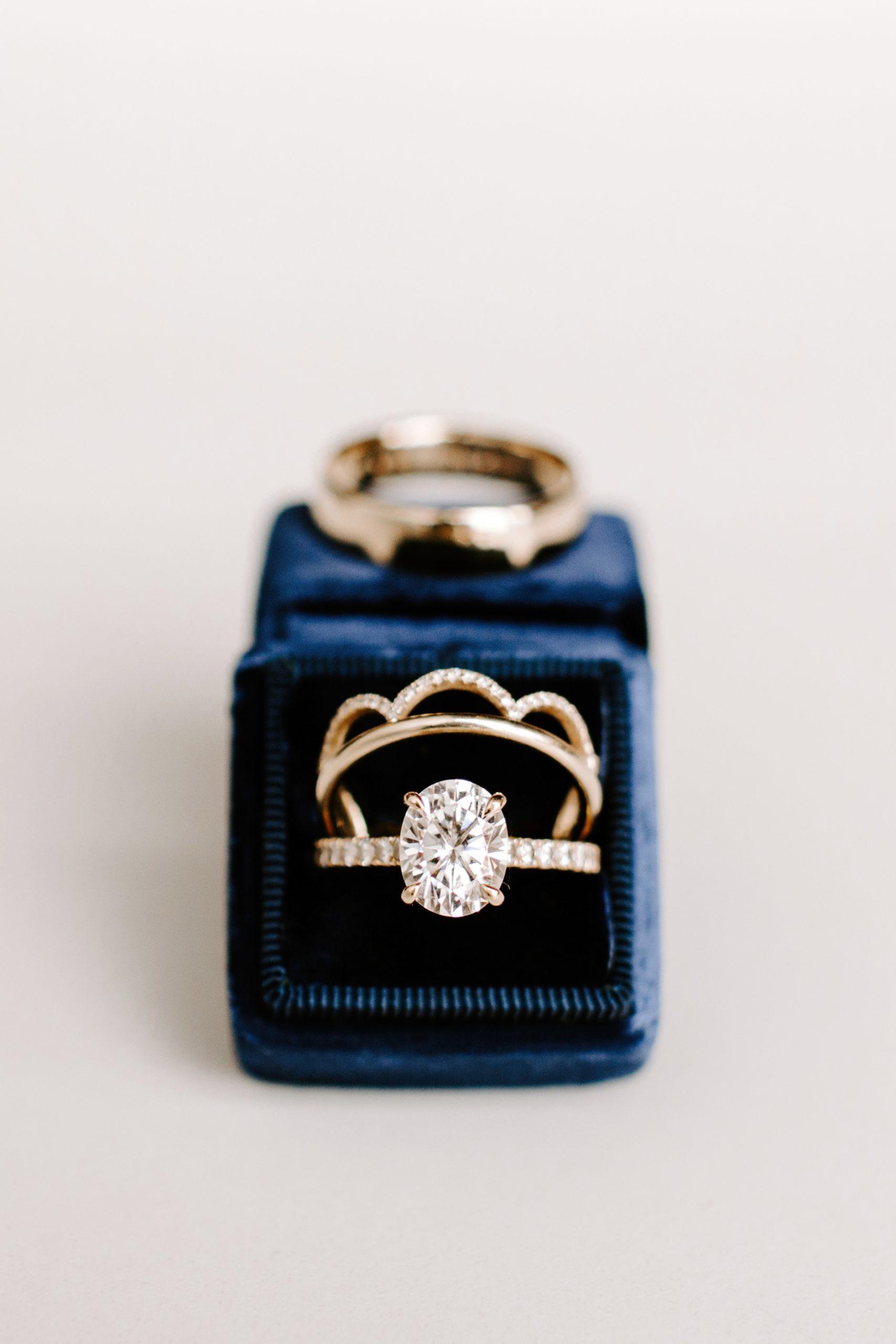 Wedding rings and something blue ringbox