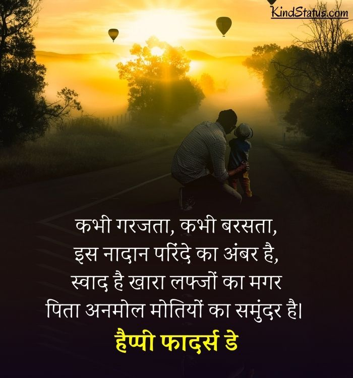 beautiful lines for father in hindi